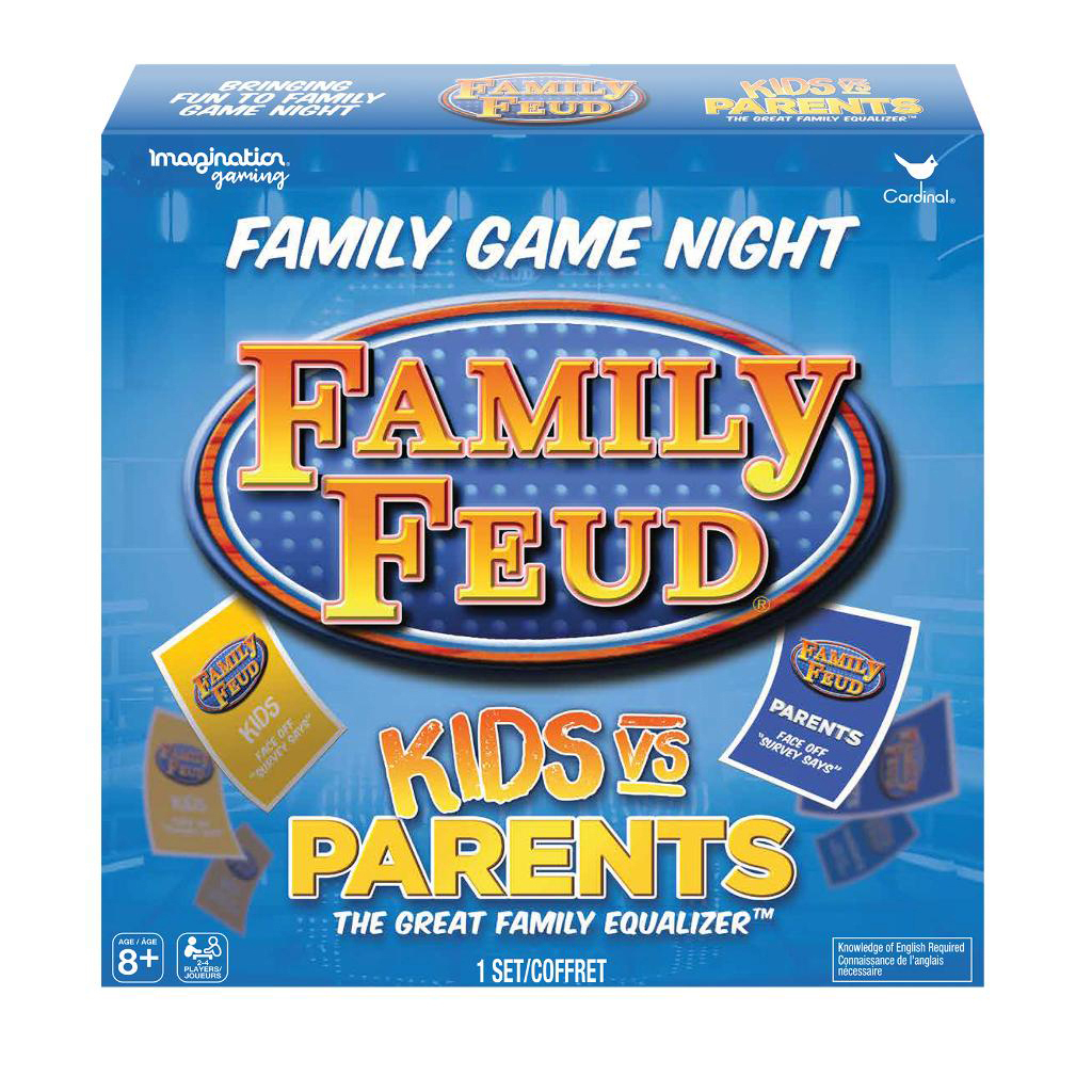 Cardinal Games Family Feud: Kids Vs  Parents     - Spin Master
