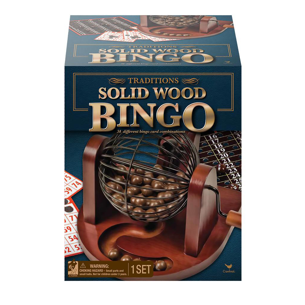 Spin Master Cardinal Games Traditions Wood Bingo Set