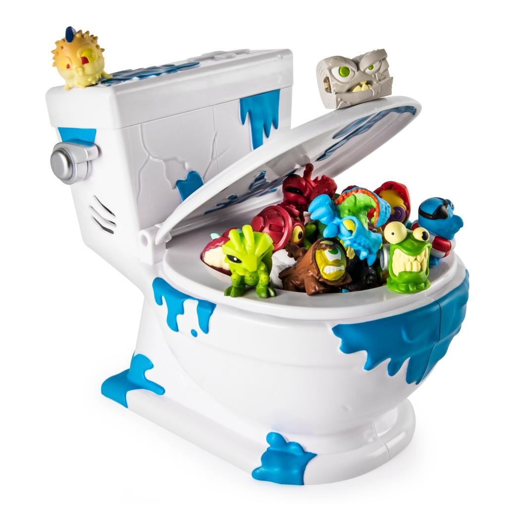 Toy Toilet Flushing Sound : Spin master flush force series collect a