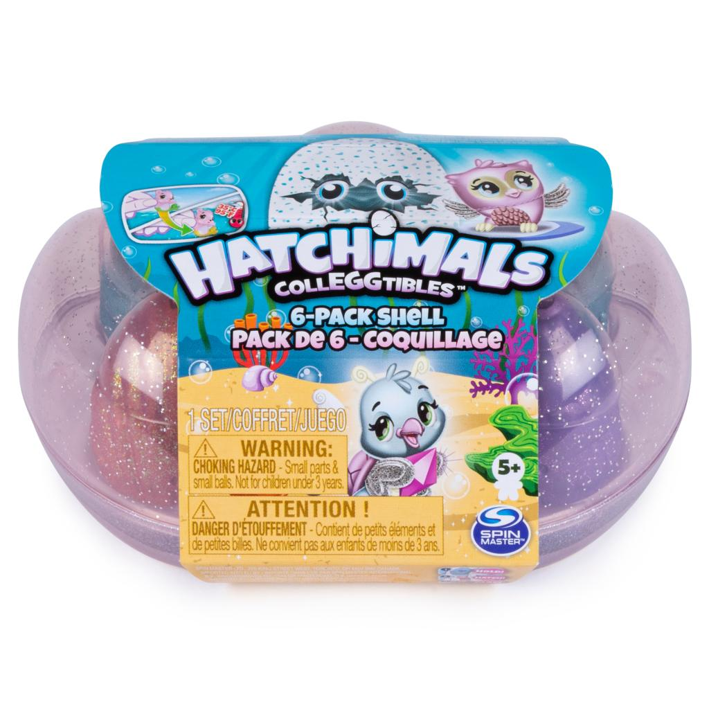 Hatchimals CollEGGtibles, 6 Pack Shell Carrying Case with Season 5 Hatchimals CollEGGtibles, Only Available at Walmart, for Kids aged 5 and Up