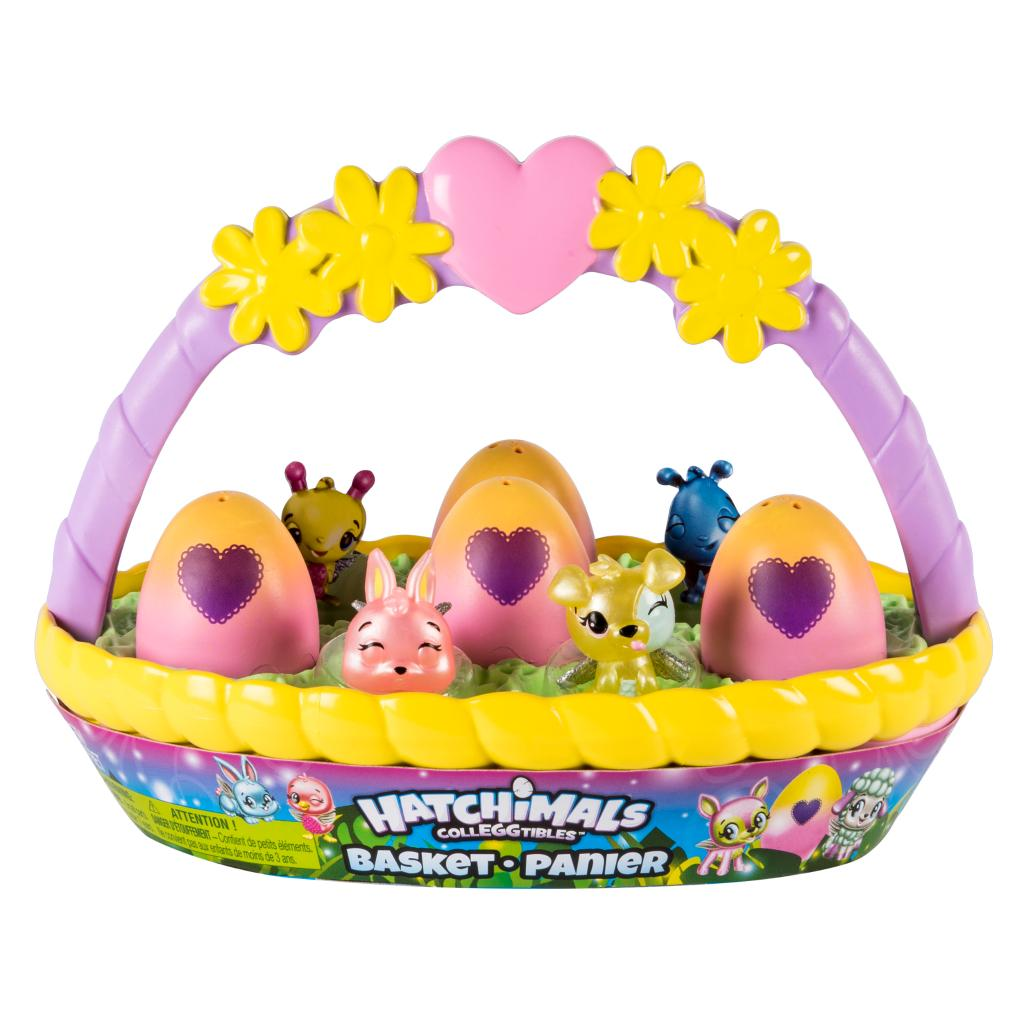 Hatchimals CollEGGtibles Basket with 6 Hatchimals CollEGGtibles