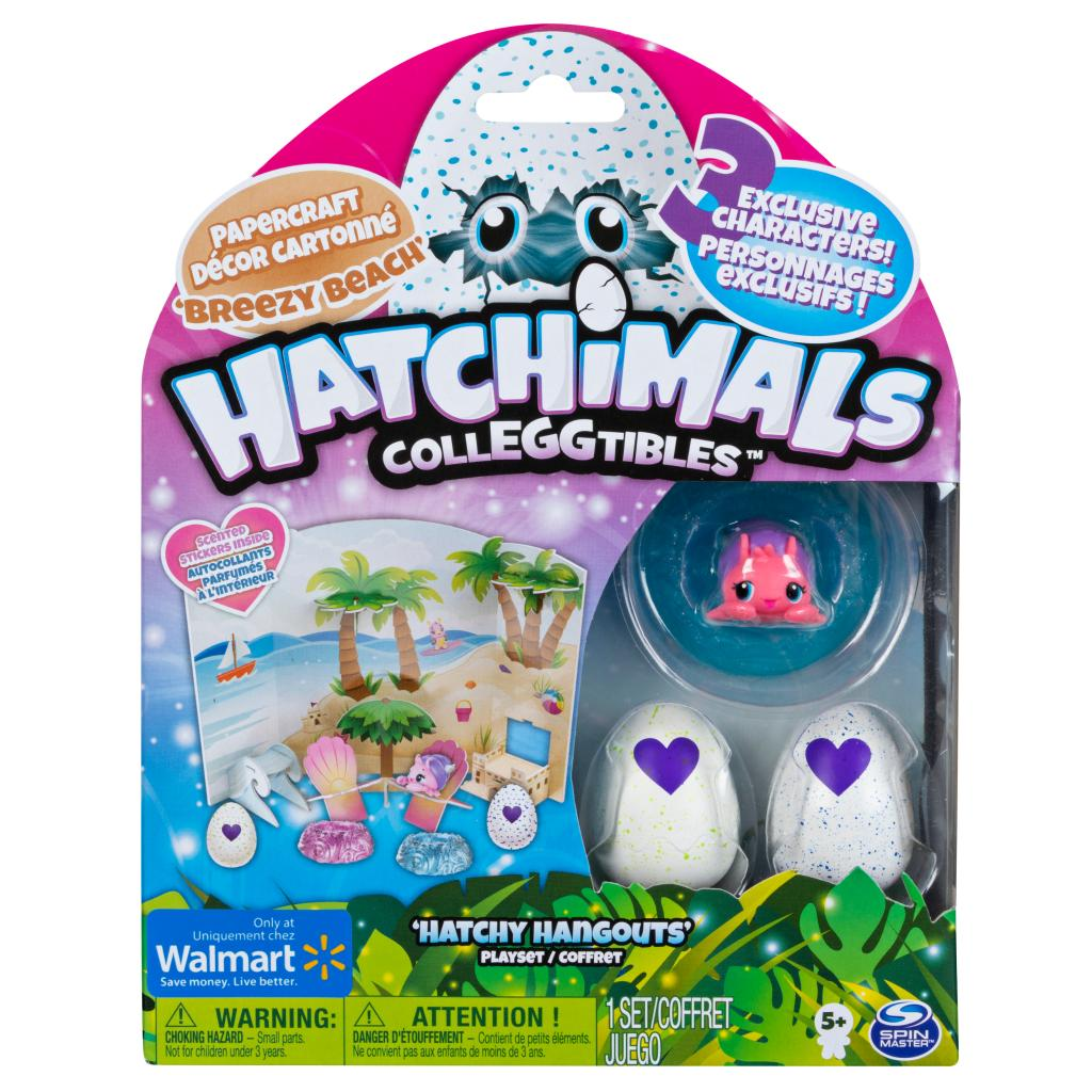 Hatchimals CollEGGtibles, Breezy Beach Hatchy Hangouts Papercraft Playset with 3 Exclusive Characters, Only Available at Walmart
