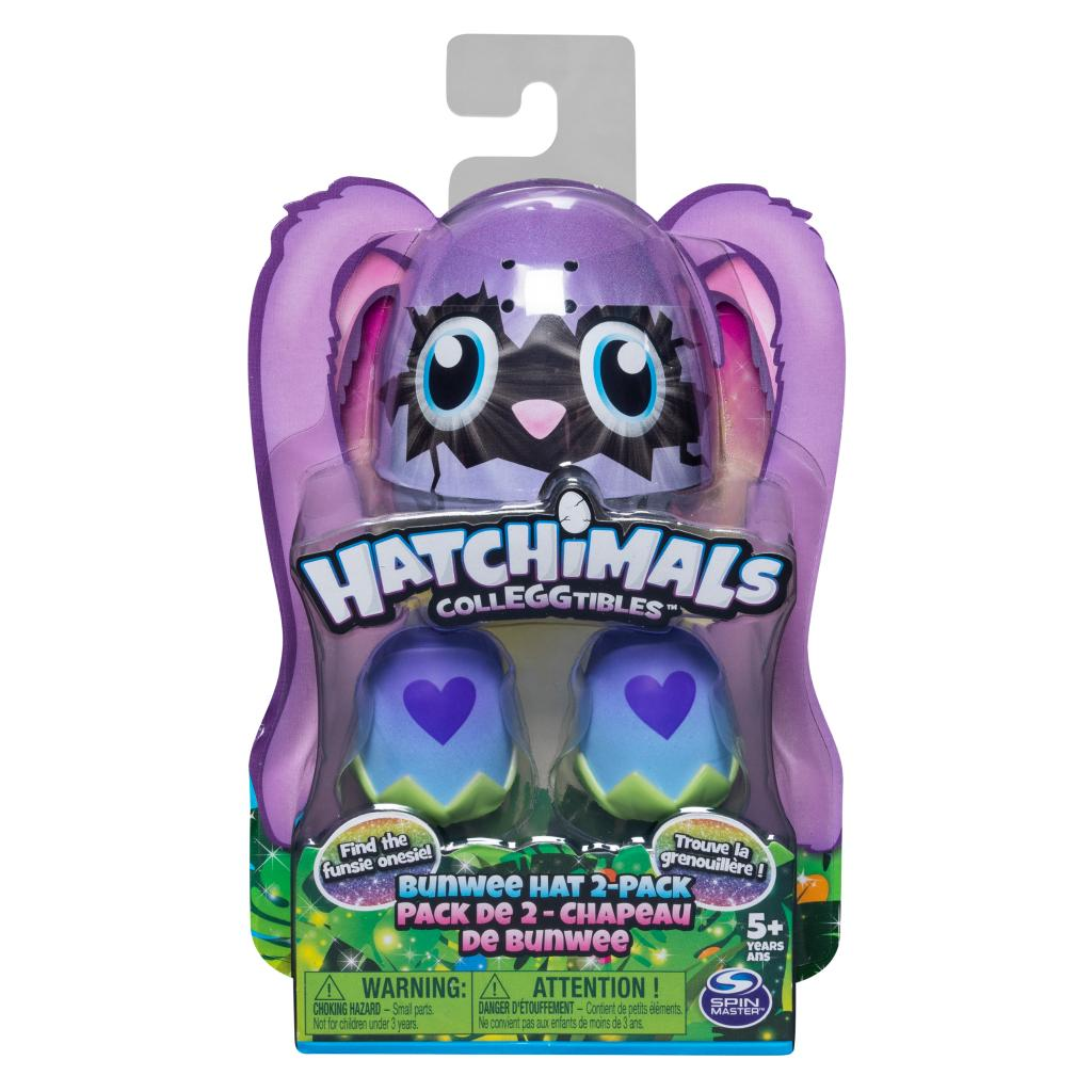 Hatchimals CollEGGtibles, Bunwee Hat 2 Pack with Season 5 Hatchimals, for Kids Aged 5 and Up (Styles May Vary)