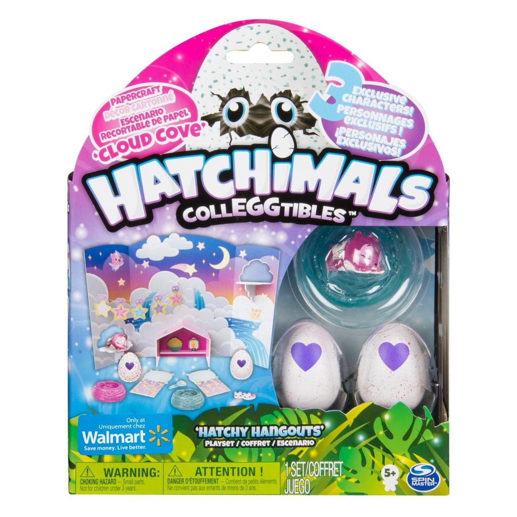 Hatchimals CollEGGtibles - Cloud Cove Hatchy Hangouts Papercraft Playset with 3 Exclusive Characters, for Ages 5 and Up