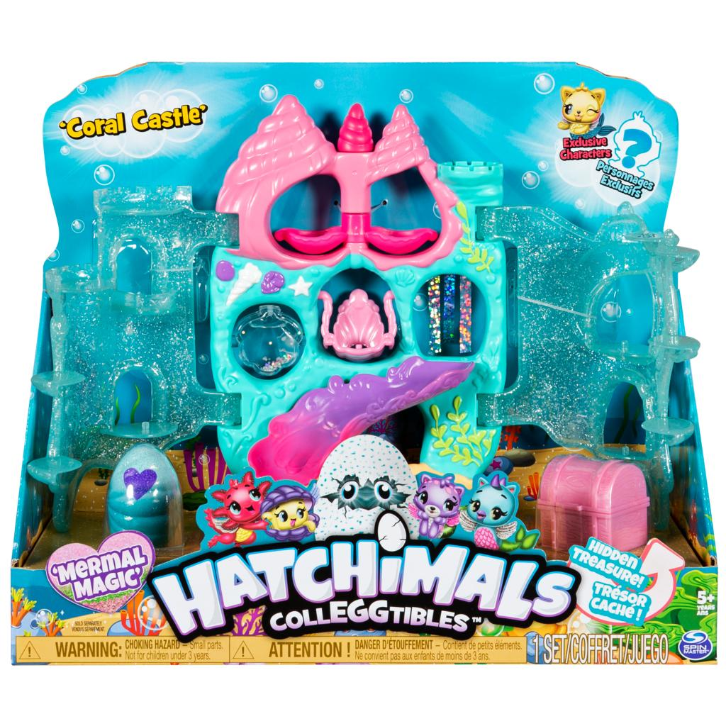 Hatchimals CollEGGtibles, Coral Castle Fold Open Playset with Exclusive Mermal Magic Hatchimals, for Kids Aged 5 and Up