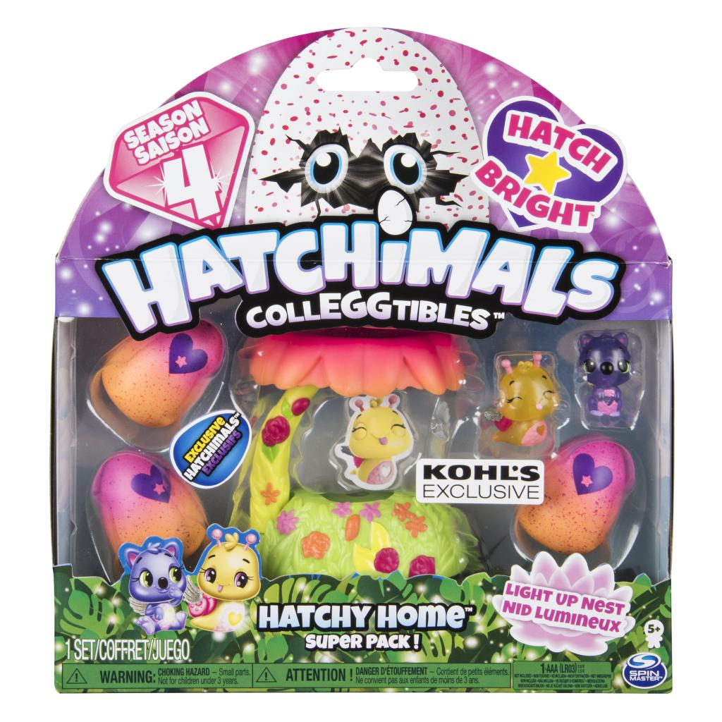 Hatchimals CollEGGtibles - Glittering Garden Hatchy Home Light-up Nest with Exclusive Season 4 Hatchimals CollEGGtibles, Kohl's Exclusive, for Ages 5 and Up