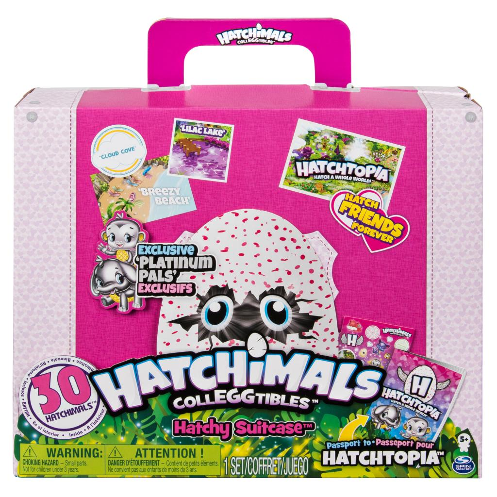 Hatchimals CollEGGtibles - Hatchy Suitcase with 30 Hatchimals CollEGGtibles, for Ages 5 and Up