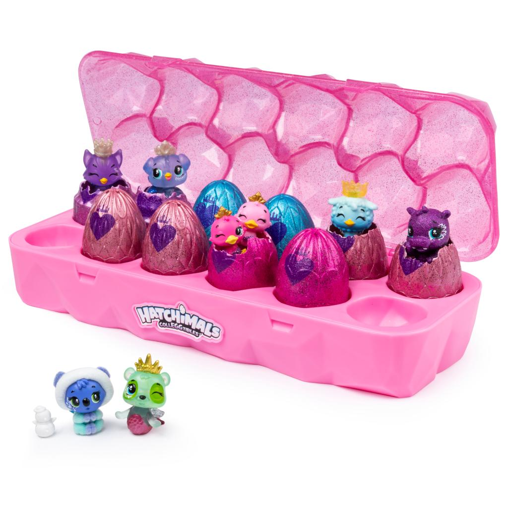 Hatchimals CollEGGtibles, Jewelry Box Royal Dozen 12-Pack Egg Carton with 2 Exclusive Hatchimals