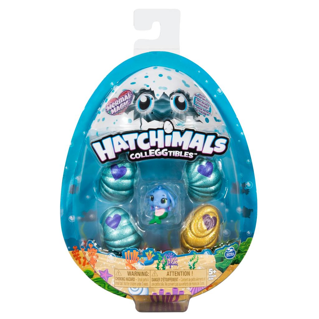 Hatchimals CollEGGtibles - Mermal Magic 4 Pack + Bonus