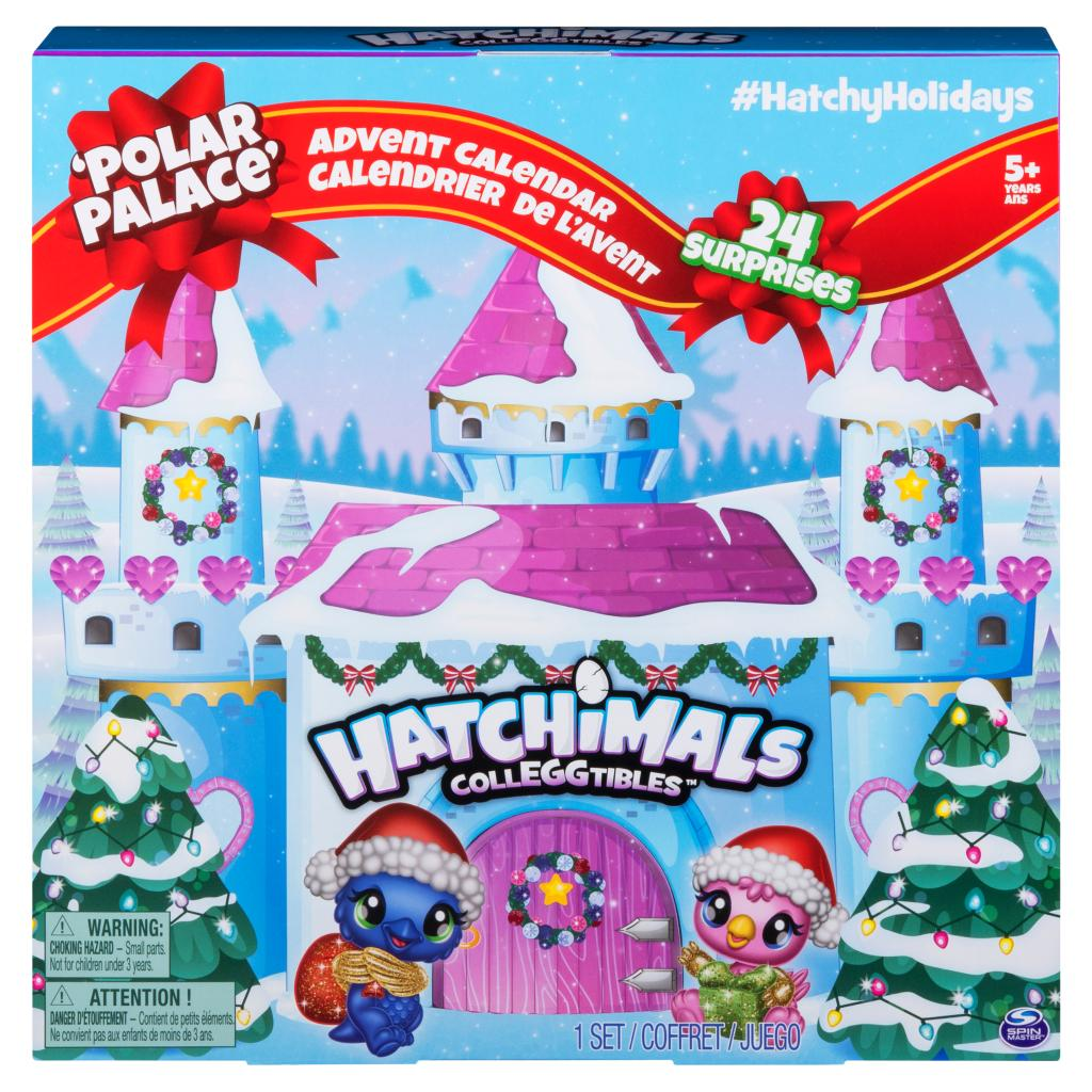Hatchimals CollEGGtibles, Polar Palace Advent Calendar with 10 Exclusive Hatchimals and Over 24 Surprises (Edition May Vary)