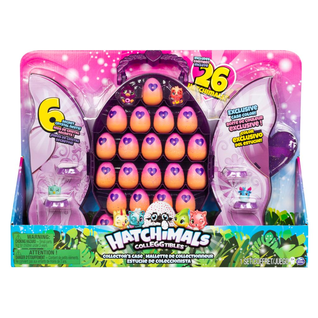 Hatchimals CollEGGtibles - Purple Deluxe Collector's Case with 26 Hatchimals CollEGGtibles, Exclusively at Costco, for Ages 5 and Up