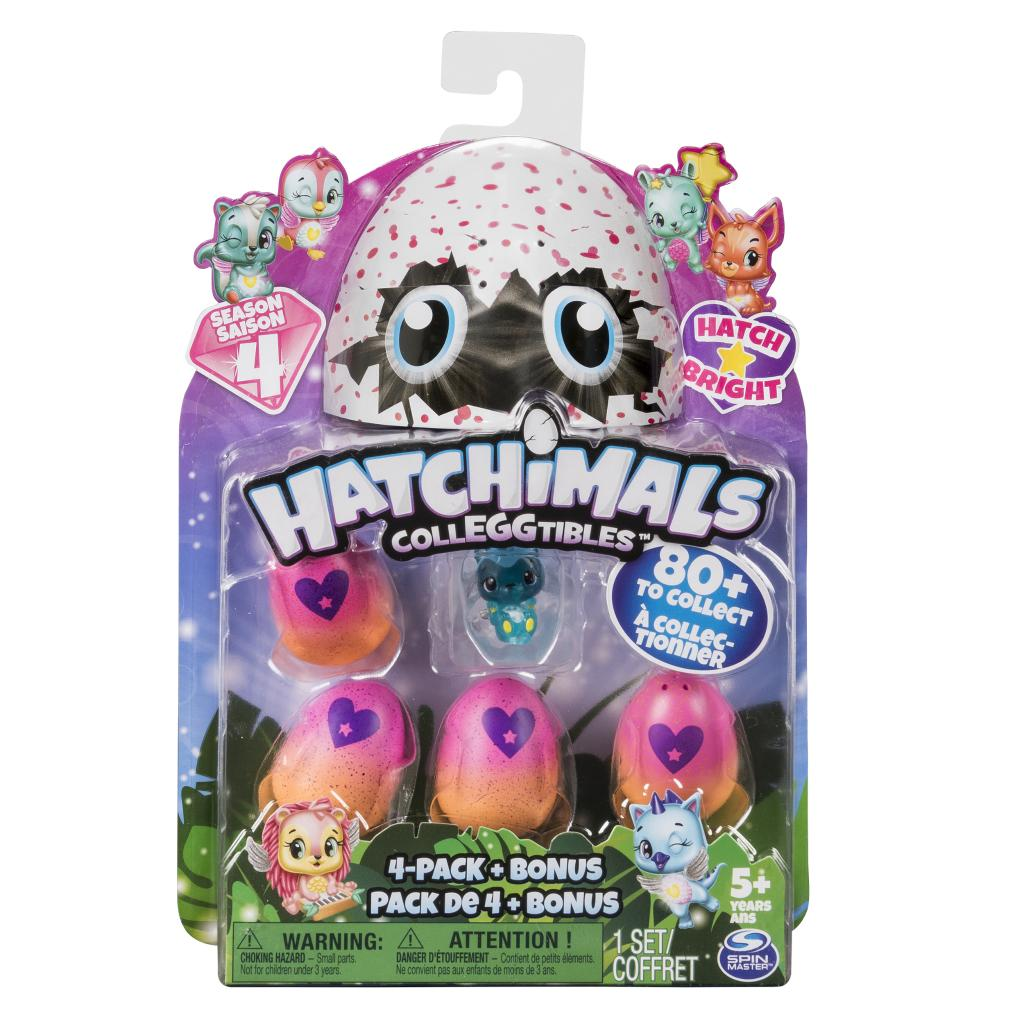 Hatchimals - CollEGGtibles Season 4 - 4-Pack + Bonus (Styles & Colors May Vary)