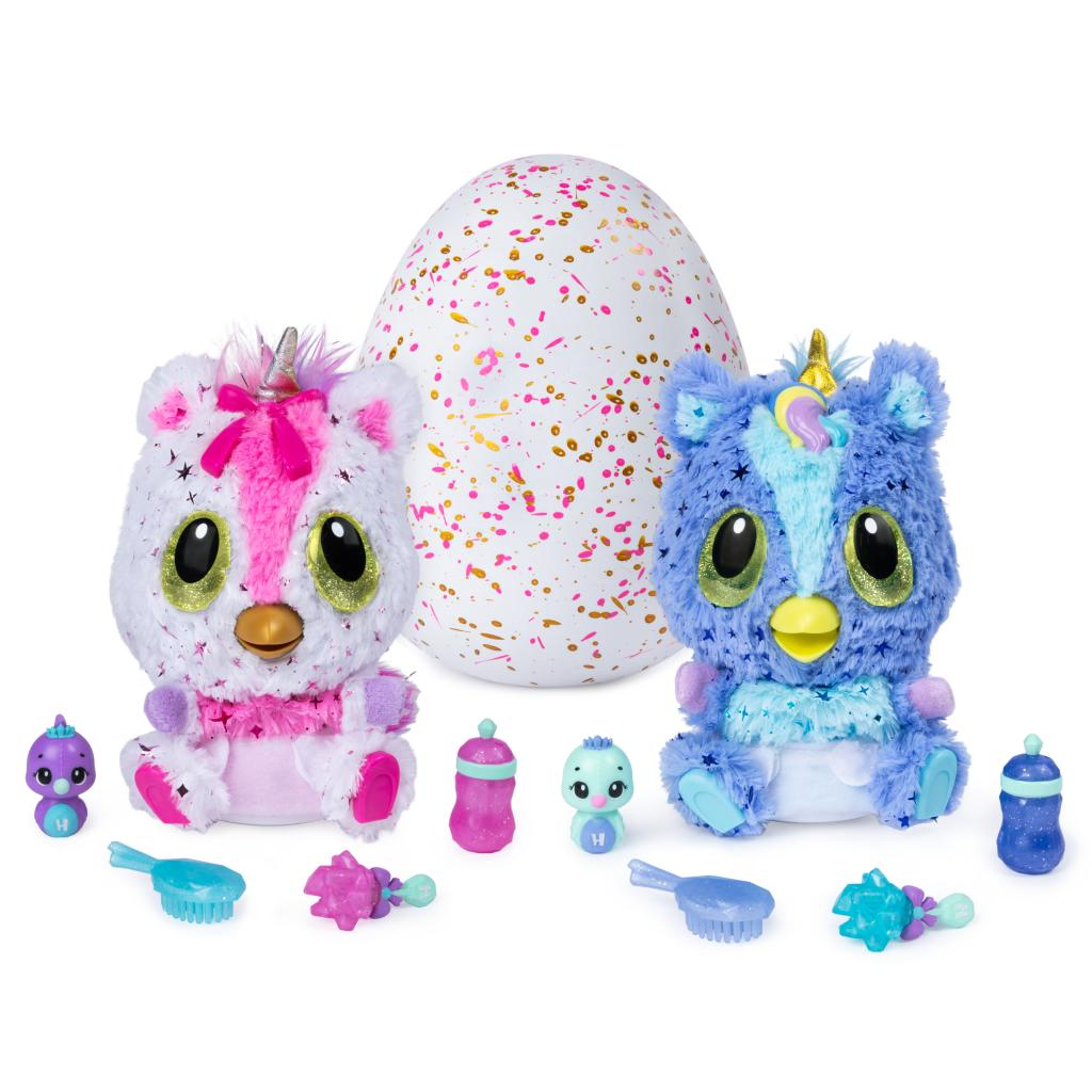 Hatchimals, HatchiBabies Unikeets, Hatching Egg with Interactive Pet Baby (Styles May Vary), for Ages 5 and Up