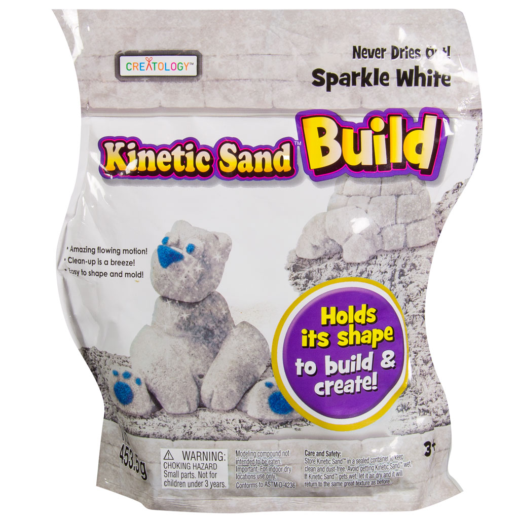 spin master kinetic sand kinetic sand build 1lb white. Black Bedroom Furniture Sets. Home Design Ideas