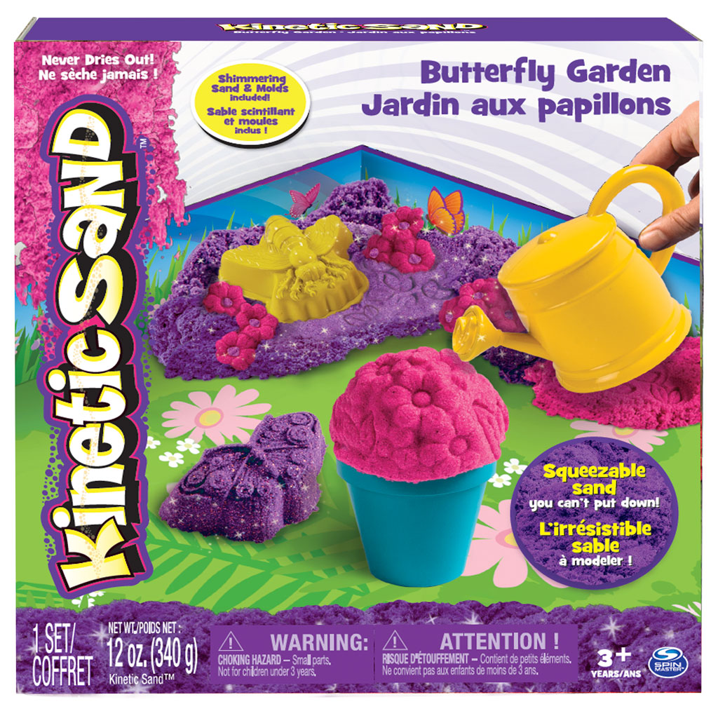 Spin master kinetic sand kinetic sand butterfly garden set for Garden products catalog