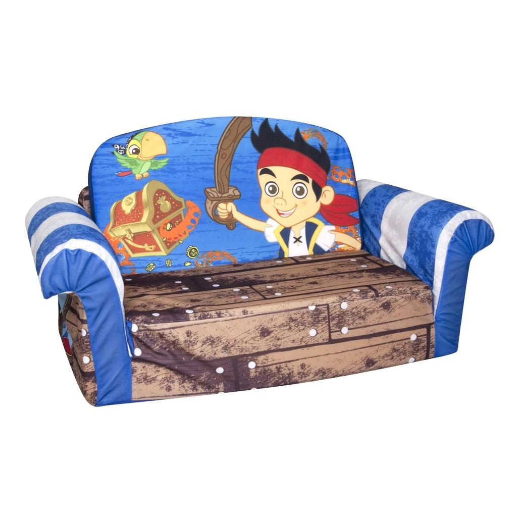 spin master marshmallow furniture flip open sofa jake u0026 neverland pirates - Flip Chair Bed
