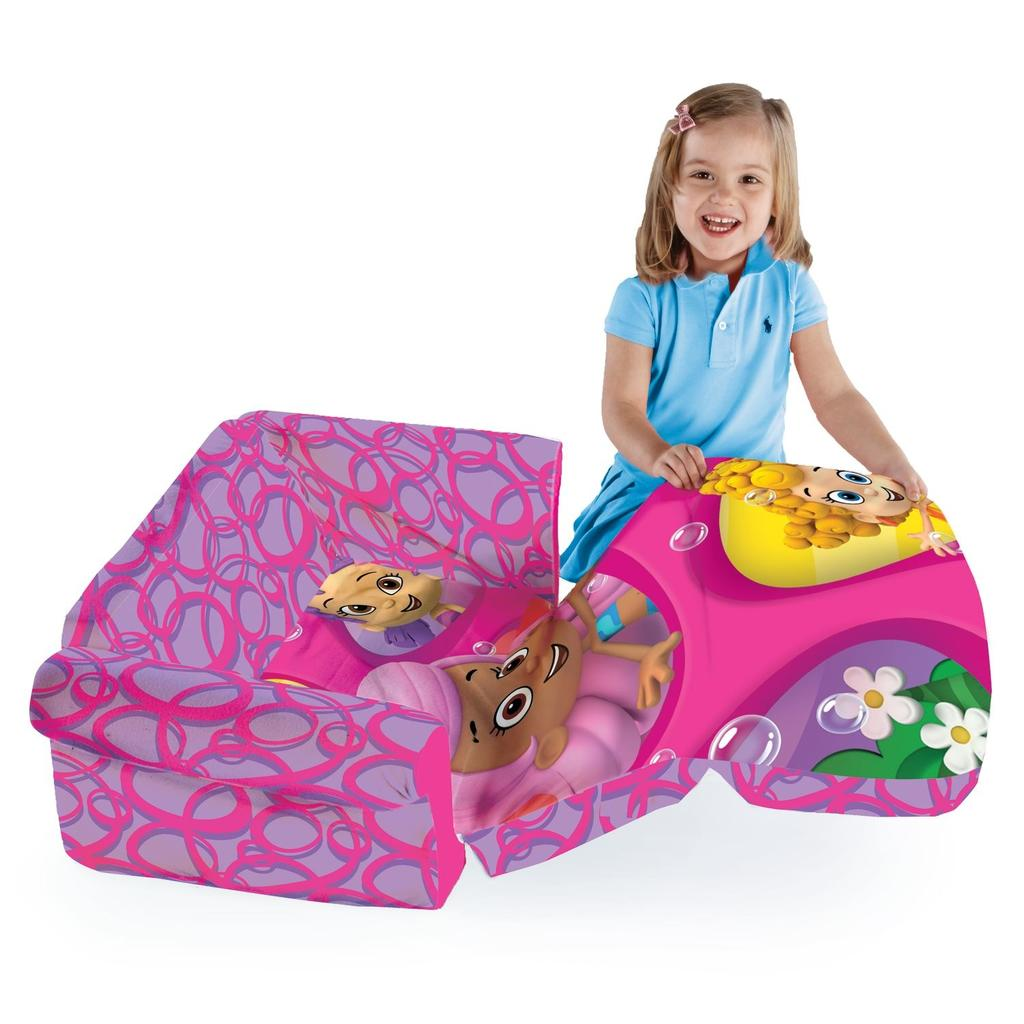 Features. Soft Plush Childrenu0027s Sized Sofa With Flip Open Lounger ...
