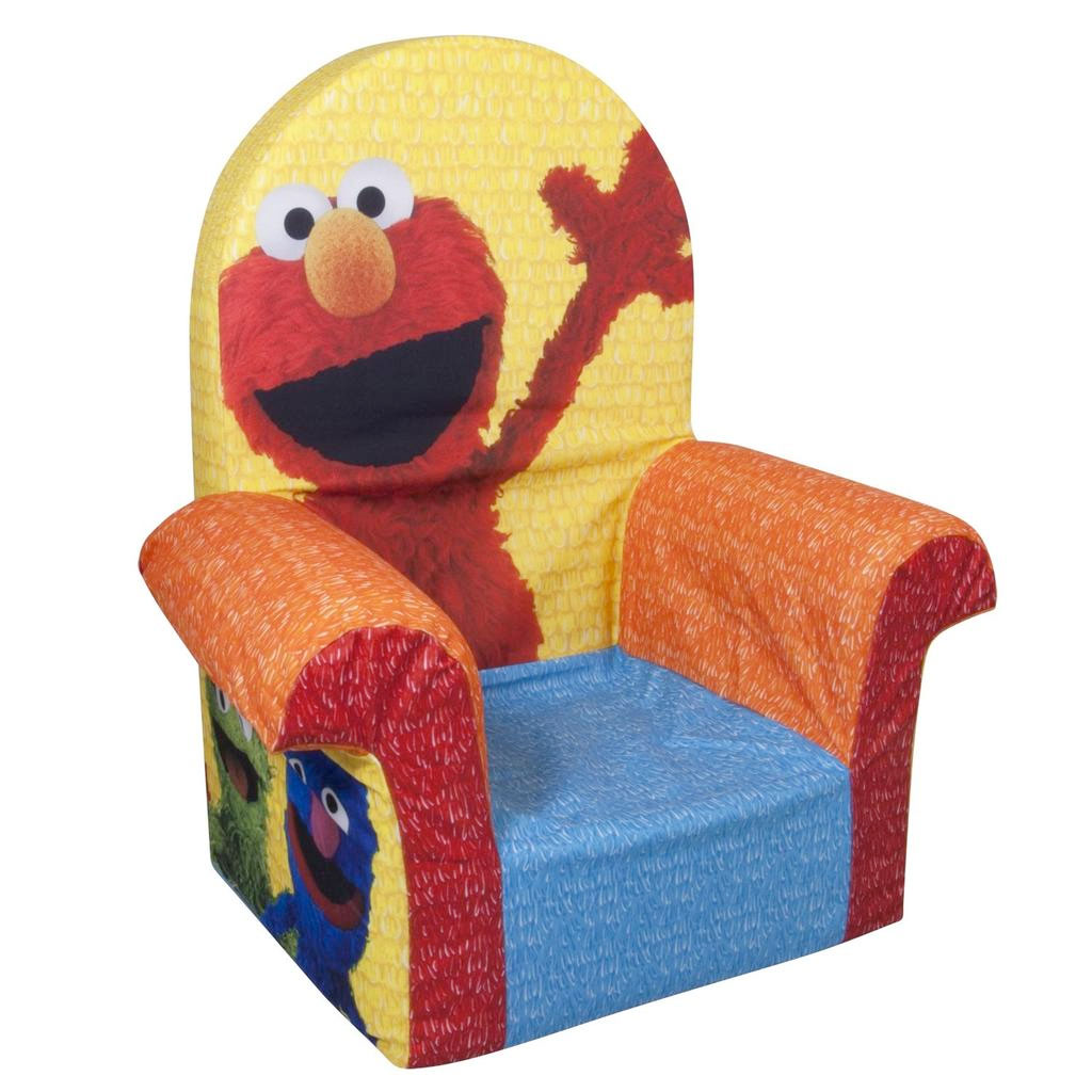 Spin master marshmallow furniture high back chair elmo for Toddler foam chair