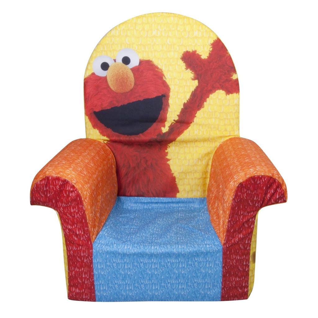 spin master marshmallow furniture high back chair elmo