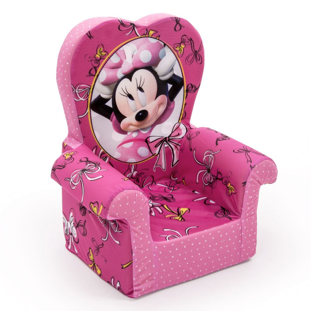 Spin Master Marshmallow Furniture High Back Chair Minnie Mouse Bow Tique