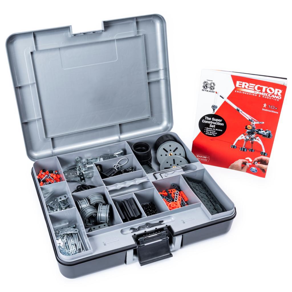 638 Pieces 25 Motorized Model Building Set For Meccano Super Construction Set