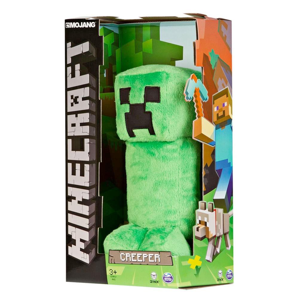 Walmart Minecraft Toys For Boys : Spin master minecraft plush creeper