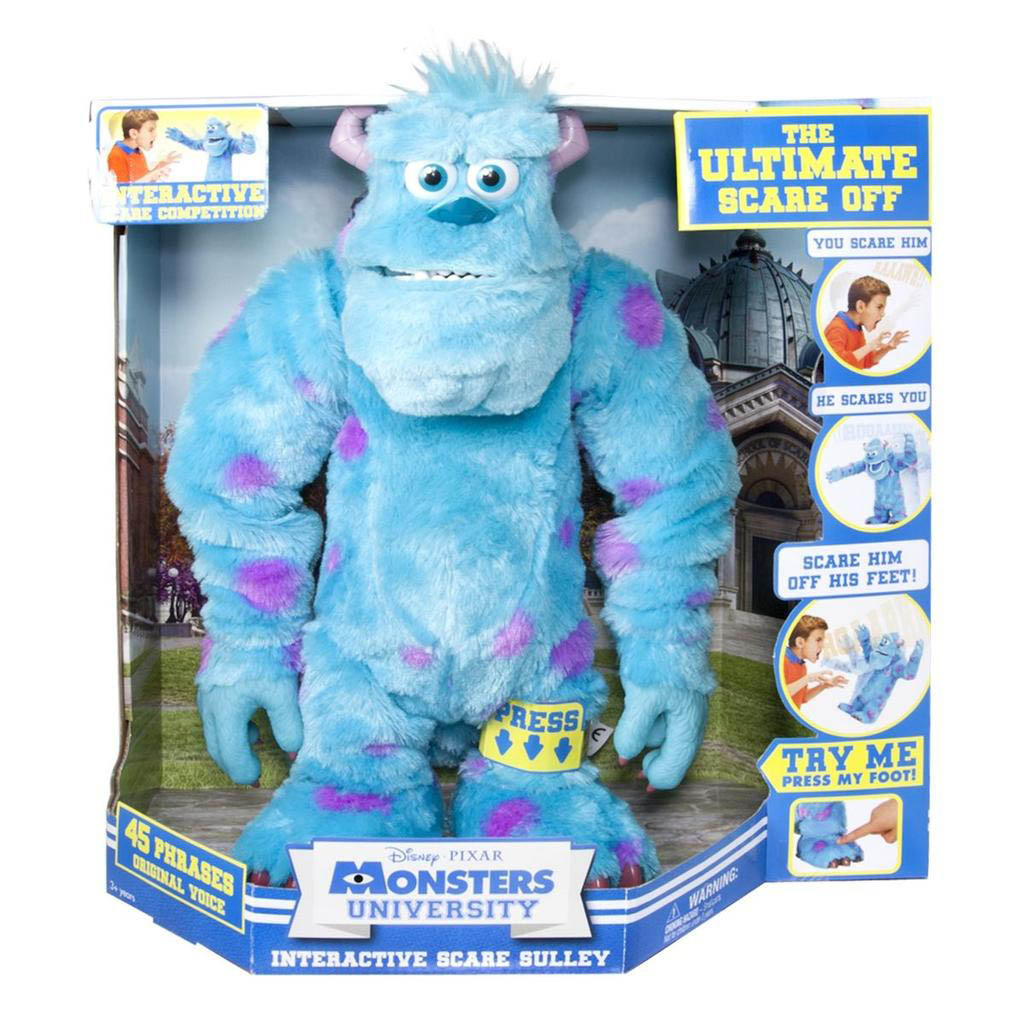 Spin master monsters university scare off sulley recreate key scenes from the movie and get enrolled at monsters university with the talking sulley plush voltagebd Image collections