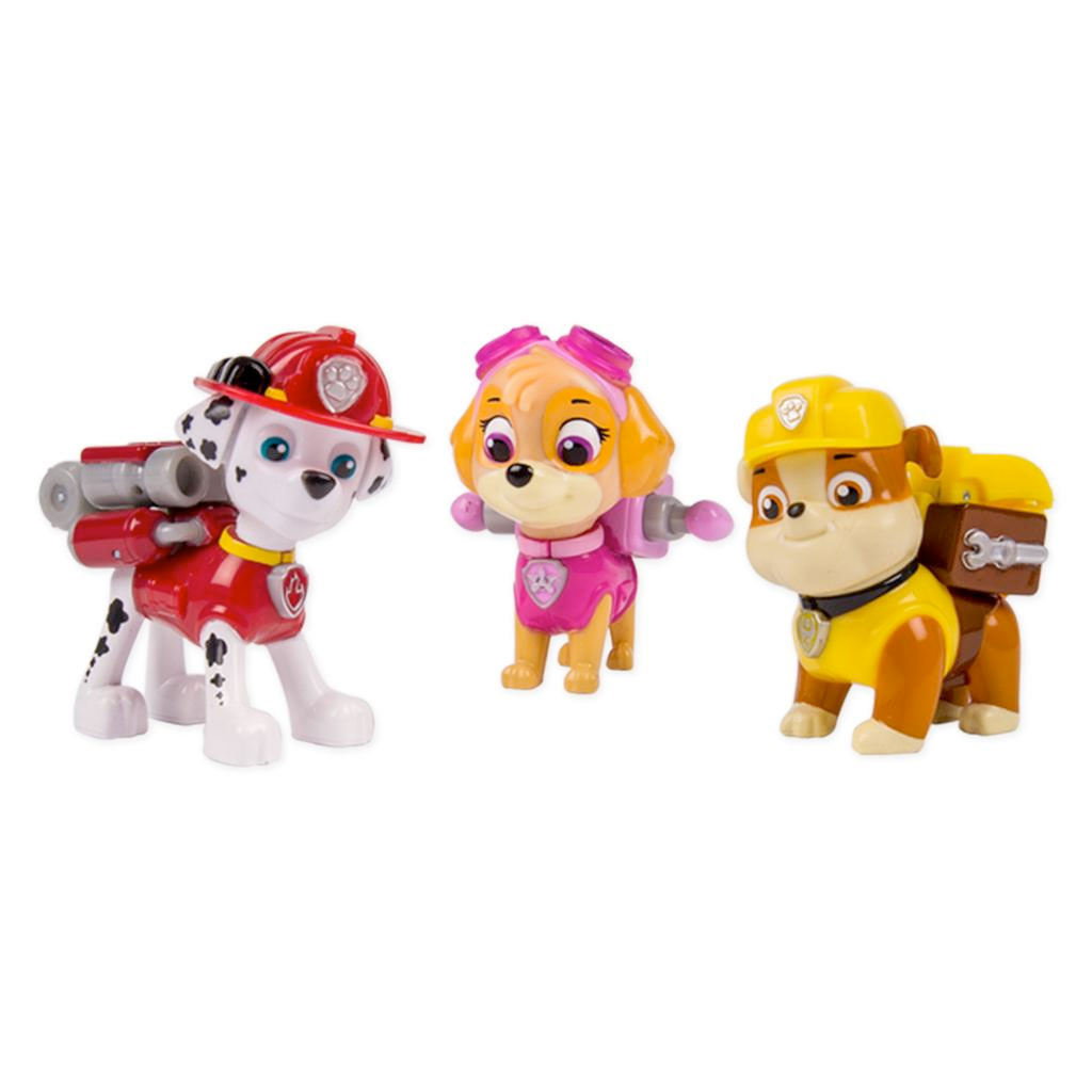 Action Pack Pups 3pk Figure Set: Marshal, Skye, Rubble