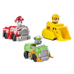 Rescue Racers 3pk Vehicle Set: Marshal, Rubble, Rocky Details
