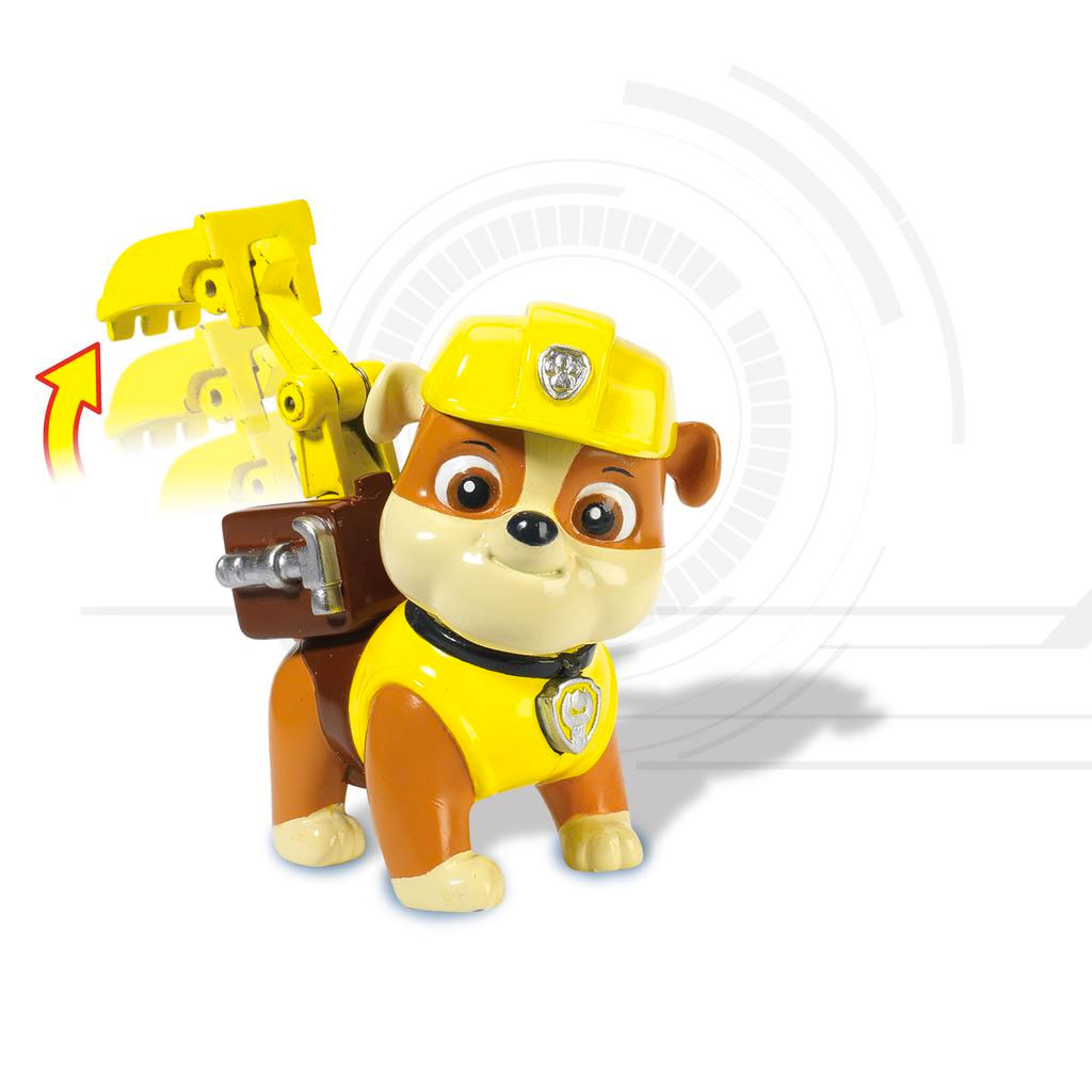 spin master  paw patrol action pack pup rubble