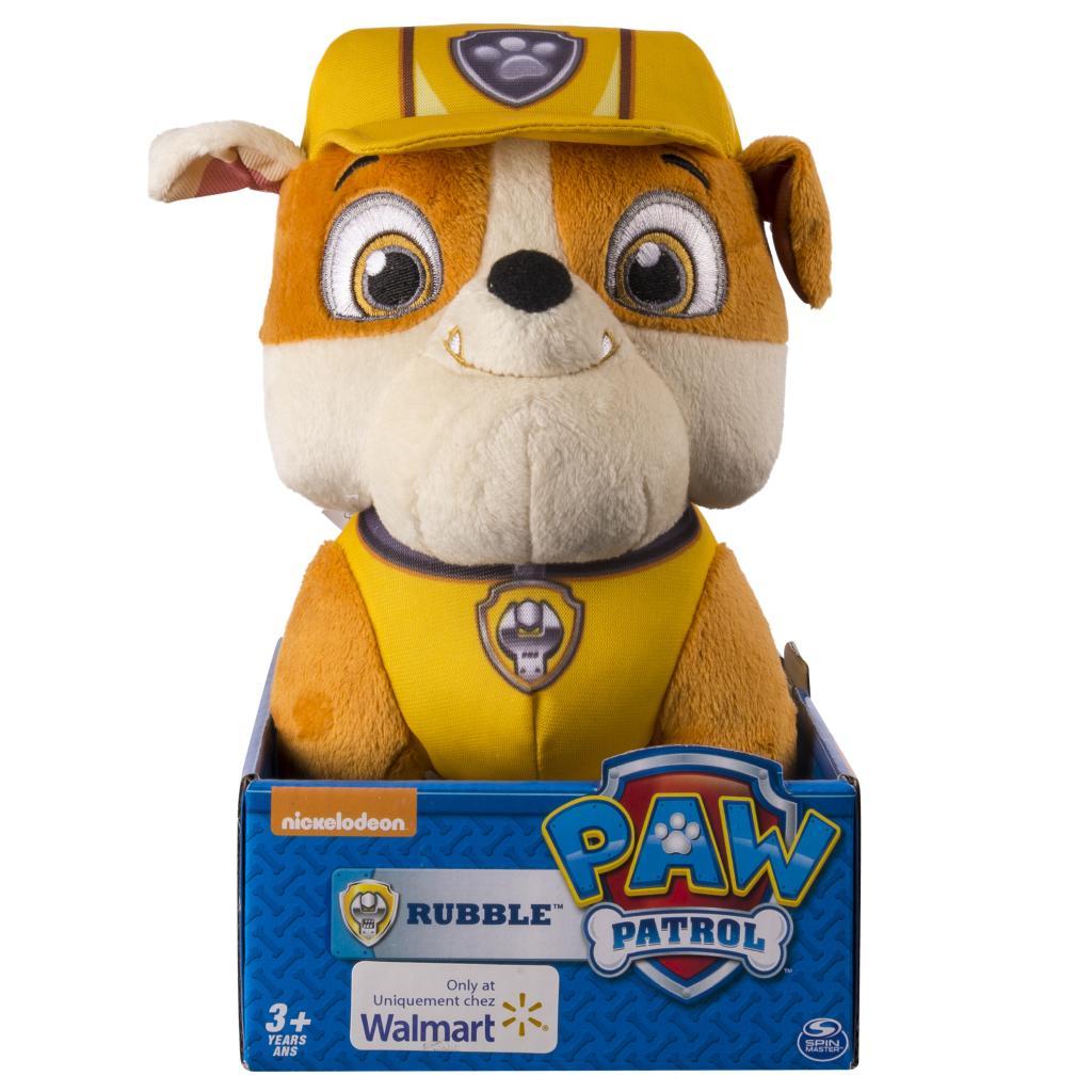 "paw patrol basic 10"" plush rubble  products  paw patrol"