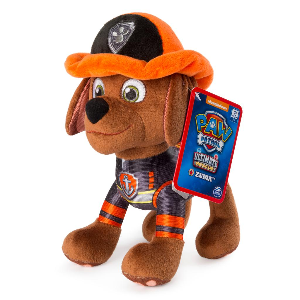 """PAW Patrol – 8"""" Ultimate Rescue Zuma Plush, for Ages 3 and Up"""