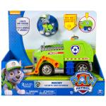 Paw Patrol Rocky's Lights and Sounds Recycling Truck Vehicle and Figure Details