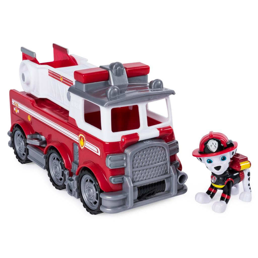 PAW Patrol Ultimate Rescue, Marshall's Ultimate Rescue Fire Truck with Moving Ladder and Flip-open Front Cab, for Ages 3 and Up