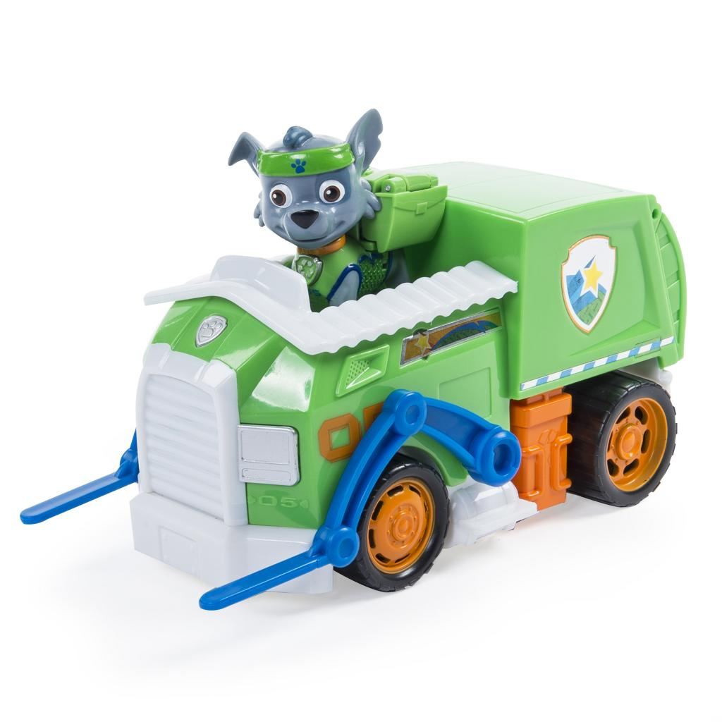 paw patrol rocky s all stars recycling truck vehicle and figure