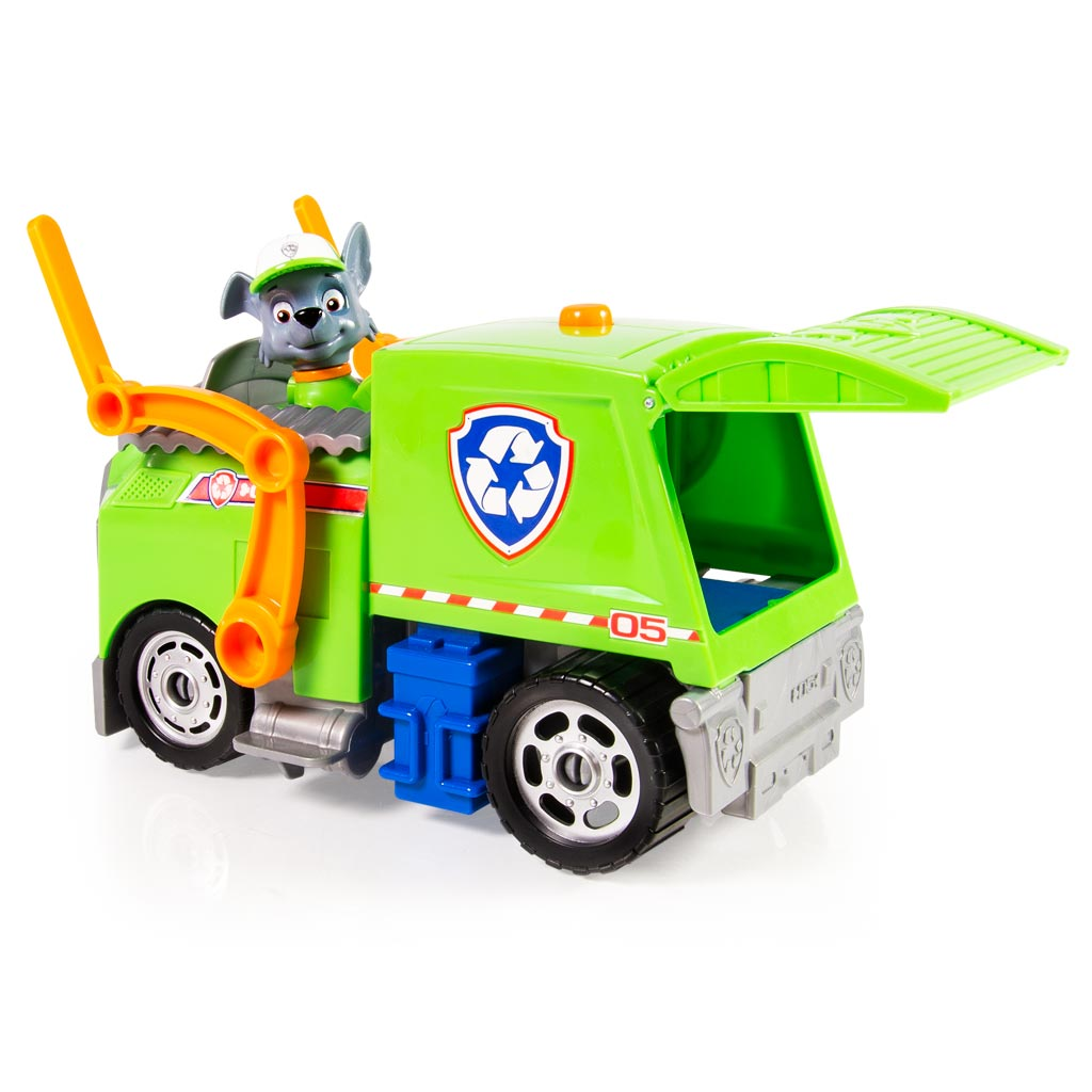 spin master paw patrol rocky s lights and sounds recycling truck. Black Bedroom Furniture Sets. Home Design Ideas