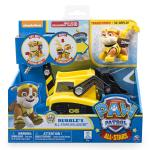 PAW Patrol - Rubble's All Stars Bulldozer- Vehicle and Figure Details