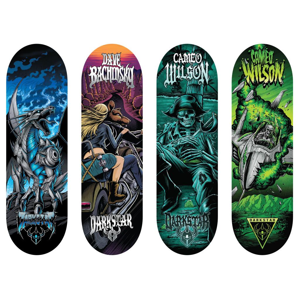 Spin master tech deck 96mm fingerboard 4 pack darkstar series - Tech deck finger skateboards ...